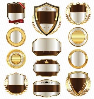 Emblemas e etiquetas de luxo