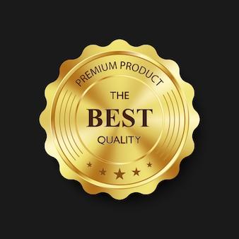 Emblemas e etiquetas de ouro de luxo, produto de qualidade premium