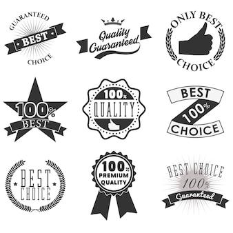 Emblemas e etiquetas de qualidade
