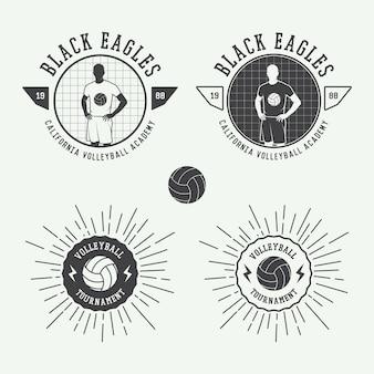 Emblemas e logotipo de voleibol