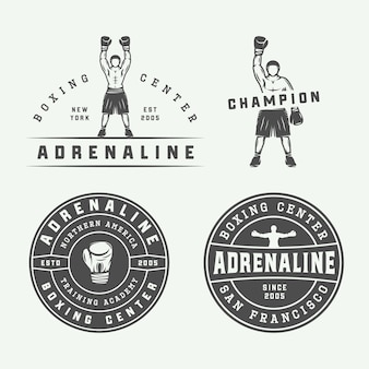 Emblemas e rótulos de boxe