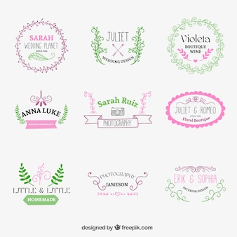 Emblemas esboçado bonitos