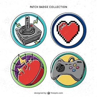 Emblemas jogos de vídeo retro