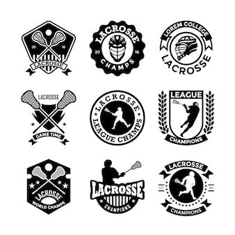 Emblemas lacrosse