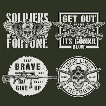 Emblemas militares vintage