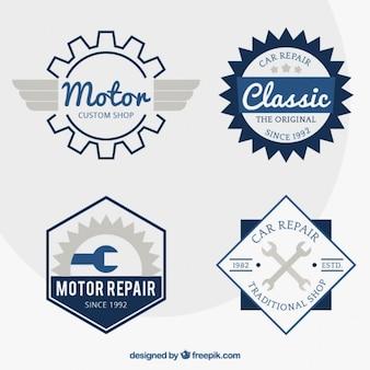 Emblemas motocicleta no estilo retro