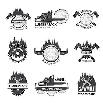 Emblemas para indústria de madeira