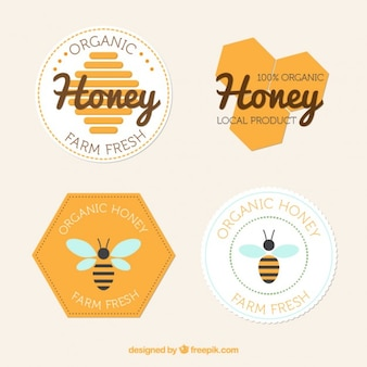 Emblemas planas de mel