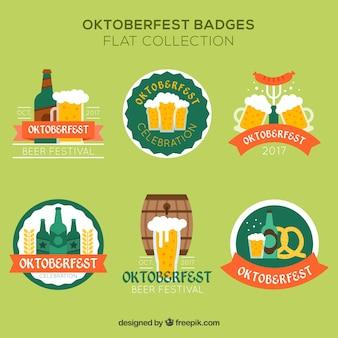 Emblemas planos para oktoberfest