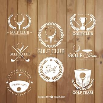 Emblemas torneio de golfe
