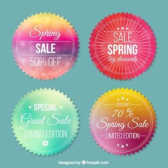 Emblemas venda redondos primavera