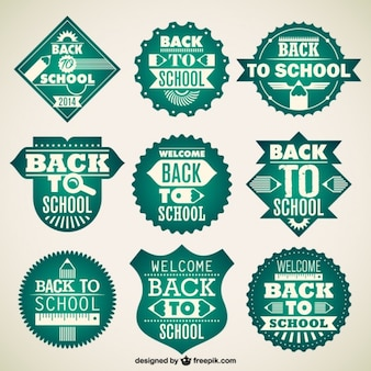 Emblemas vetor escola