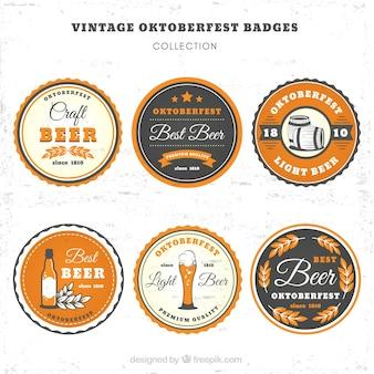 Emblemas vintage para festa da cerveja