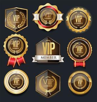 Emblemas vip dourados