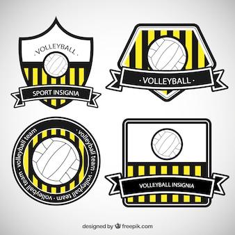 Emblemas vôlei listradas