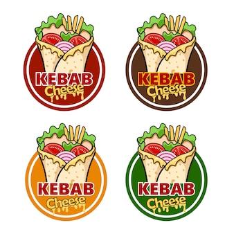Embrulhe queijo kebab e ingredientes para kebab