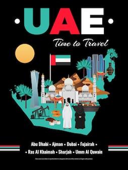 Emirados árabes unidos brochura do guia de viagens dos eua