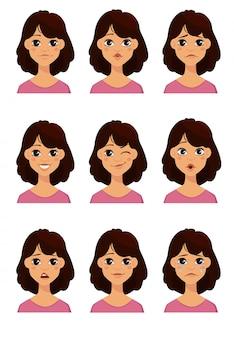 Emoções femininas diferentes