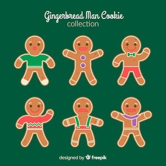 Emoções gingerbread man cookies coleção de natal