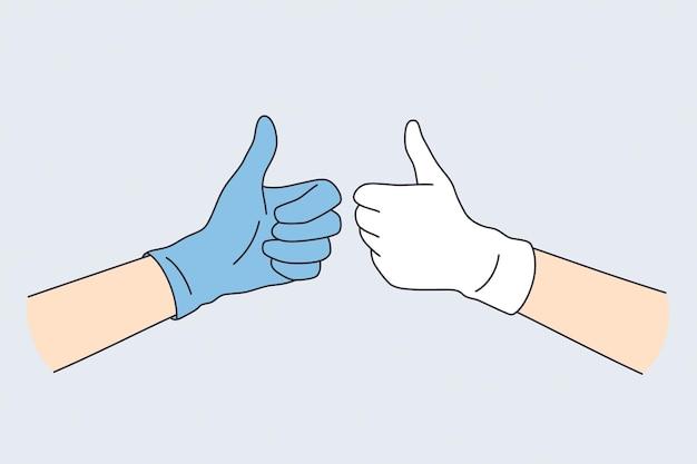 Emoções positivas no conceito de gestos.