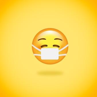 Emoji com máscara