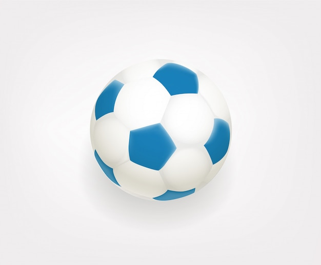 Emoji de bola de futebol isolado no fundo branco