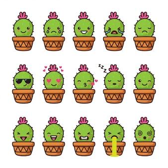Emoji de cacto fofo