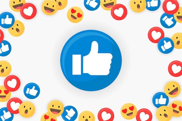 Emoji emoldurado fundo