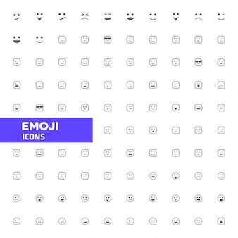 Emoji grande coleção de ícone