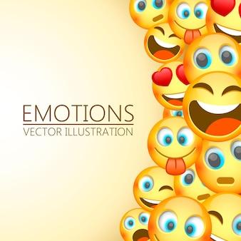 Emoji moderno amarelo risonho