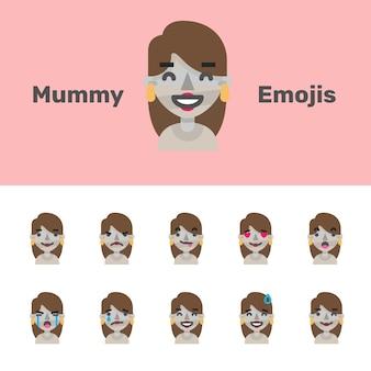 Emojis da mamã do dia das bruxas