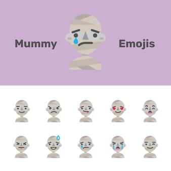 Emojis da múmia do dia das bruxas