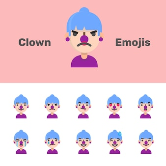 Emojis de palhaço de halloween