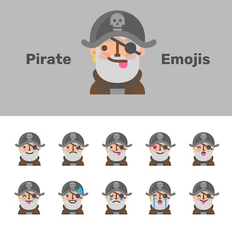 Emojis de pirata do dia das bruxas
