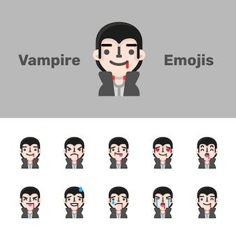 Emojis de vampiro do dia das bruxas