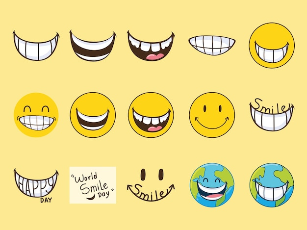 Emojis do dia do sorriso