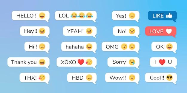 Emojis em mensagens
