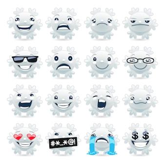 Emojis engraçados do floco de neve