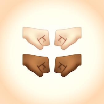 Emojis facing fist