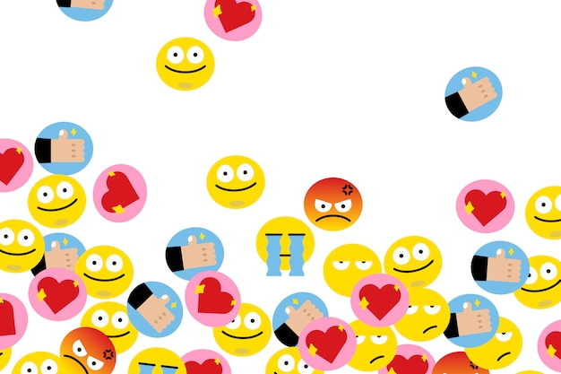 Emojis flutuantes