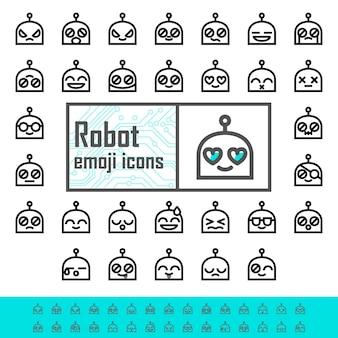 Emojis linha robô