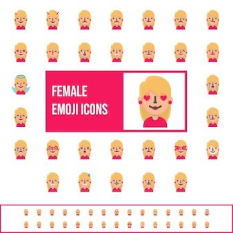 Emojis louros lisos