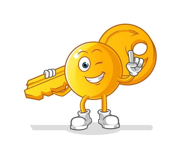 Emoticon com o desenho do mascote principal