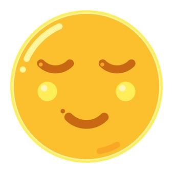 Emoticon de rosto aliviado
