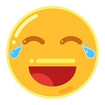 Emoticon de rosto com lágrimas de alegria