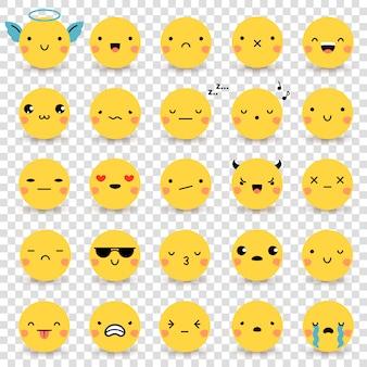 Emoticons conjunto transparente