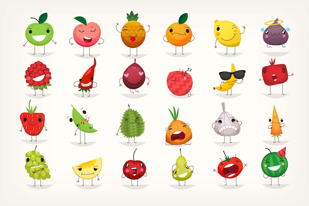 Emoticons de frutas