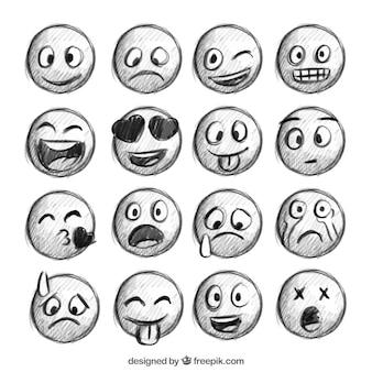 Emoticons esboços