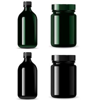 Empacotamento cosmético do frasco de medicamento