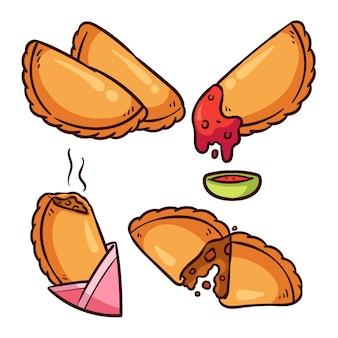 Empanada com molho delicioso